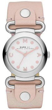 Marc By Marc Jacobs Molly Hazy Rose Leather Strap