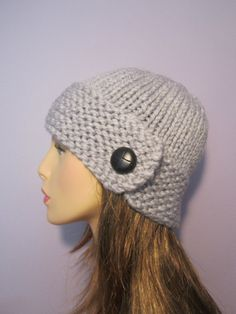 Light Grey or Pick Your Color Hand Knit Hat by UpNorthKnits, $35.00