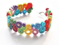 It is awesome! Paper Quilling Jewelry, Paper Bead Jewelry, Handmade Beaded Jewelry, Bead Jewellery, Fabric Jewelry, Jewelry Crafts, Soutache Bracelet, Soutache Jewelry, Diy Hair Accessories