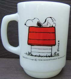 Check out Fire King Fireking Snoopy I Think I'm Alergic To Morning Coffee Mug Vintage USA on @eBay http://r.ebay.com/hMDOWn