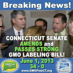GMO labeling bill...Kudos to Connecticut!