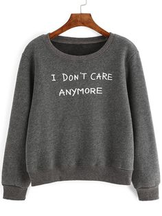 To find out about the Grey Letter Print Sweatshirt at SHEIN, part of our latest Sweatshirts ready to shop online today! Sweatshirt Outfit, Grey Sweatshirt, Grey Sweater, Sweater Cardigan, Hoodie Sweatshirts, Sweatshirts Online, Printed Sweatshirts, Hoodies, Sweat Shirt