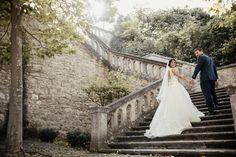 In love with this stunning couple ❤️ #victoriasoprano in her Joyce gown by #victoriasoprano  ——————— #wedding #brides #bridalgown #weddingday #weddingdress