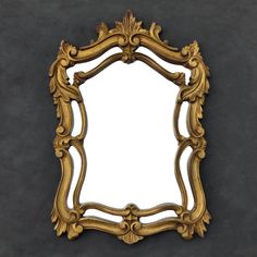 Gold Ornate Vintage Mirror - Acanthus Leaf Frame - Victorian - Hollywood Regency - Baroque by TheCherryAttic on Etsy