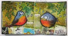 Caro´s Welt: Mini Art-Journal # 4 - Crazy Birds