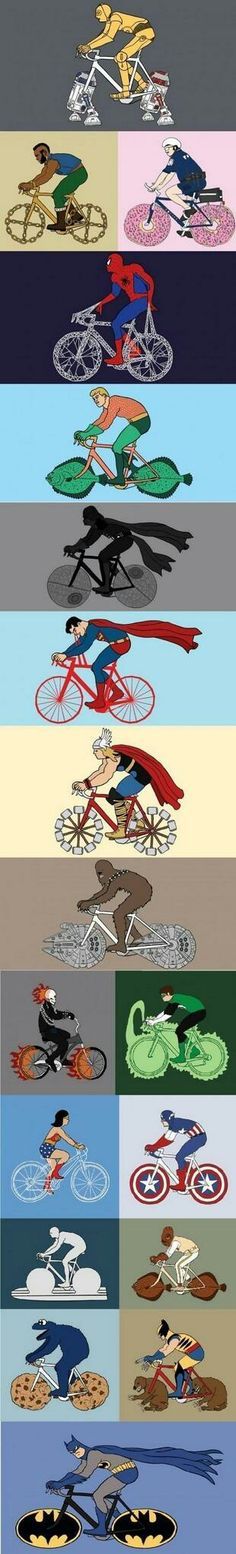 Every cyclist is a super hero. Super heroes too