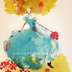 Colleen Quen | Watercolor | Cinderella
