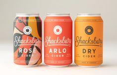 Ciders We Craft — Shacksbury Cider Design Logo, Label Design, Branding Design, Package Design, Graphic Design, Design Design, Beer Packaging, Beverage Packaging, Brand Packaging