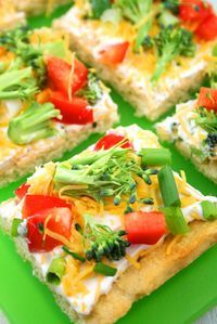 Cold Veggie Pizza? Yes, please!