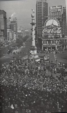 A wartime service at Columbus Circle
