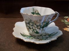 Antique Queens Royal Bone China cup and saucer by NanasVintageShop, $49.00