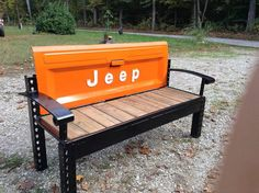 Vintage Tailgate Benches by TheFunkeyJunkmeister on Etsy
