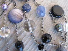 Black and Blue Denim Gemstone Treasure by carolinesjewelrybox, $34.00
