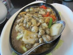 filipino food: sizzling oysters