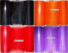 4 TULLE FABRIC SPOOL Roll Lot  Fall Colors 6 X 25 by deanascrafts