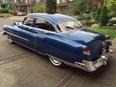 47 best automobiles images vintage cars, antique cars, autos1952 cadillac series 62 sedan golden anniversary (side rear view)