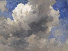 Anonyme, première moitié du XIXe siècle Étude de nuages Panneau, 22,8 x 30,4 cm Acquis en 2011 ; inv. 2011-s.11