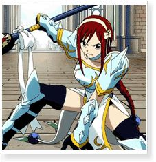Fairy Tail Erza Scarlet Lightning Empress Armor Costumes - CosplayMagic.Com