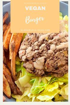 Schwarzer Bohnen Burger mit Süßkartoffeln Vegan Bean Burger, Burger Bread, Great Recipes, Vegan Recipes, Black Bean Burgers, Sweet Pickles, Sauteed Mushrooms, Caramelized Onions, Vegan Dishes