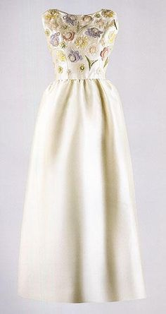 The dress Jackie wore to Versailles in 1962.   www.facebook.com/JackieKennedyOnassis