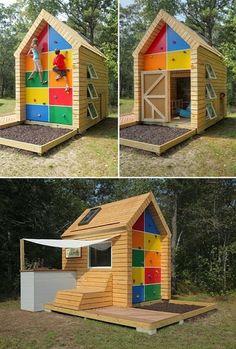 Arenero en una casa de juegos infantil