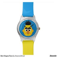 Shop Bert Angry Face Wrist Watch created by SesameStreet. Angry Face, Presents For Kids, Hip Muscles, Popular Bags, Hip Workout, Watch Faces, Cool Gifts, Fashion Accessories, Watches
