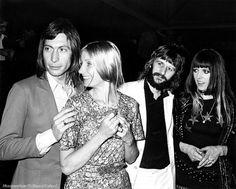 Longtime couple Charlie & Shirley Watts and Ringo & Maureen Starr