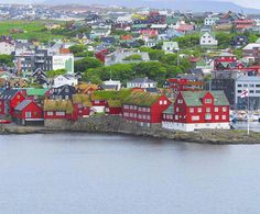 Torshavn is the capital of Færøyene, Faroe islands and is located at east coast of main island Streymoy.