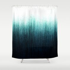 Buy Shower Curtains featuring Teal Ombré by Caitlin Workman. Made from easy care polyester our designer shower curtains are printed in the USA and feature a 12 button-hole top for simple hanging. Ombre Shower Curtain, Teal Shower Curtains, Bathroom Shower Curtains, Lavender Shower Curtain, Teal Ombre, Teal Blue, Mermaid Bathroom, Home Decor Furniture, Home Interior Design