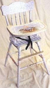 Nursery Rhymes High Chair - Free Shipping! $840.00 (USD).  Product in photo is from www.wellappointedhouse.com