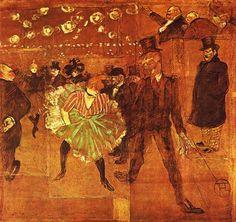 La Goulue en el Moulin Rouge, 1895 - Toulouse Lautrec