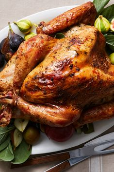 NYT Cooking: A whole roasted turkey is seasoned like a Provençal leg of lamb, with rosemary, anchovies and plenty of garlic. Best Thanksgiving Turkey Recipe, Thanksgiving Menu, Turkey Recipes, Chicken Recipes, Anchovy Recipes, Garlic Recipes, New York Times Cooking, Roasted Turkey, Roasted Chicken