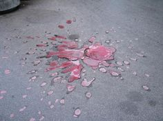 Sarajevo Rose is a concrete scar made by a mortar shell explosion that was later painted...