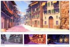 EH: City street 1 by ~owen-c on deviantART    awesome example of a lighting change.