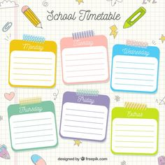 Class Schedule Template, Timetable Template, Journal Template, Planner Template, Printable Planner, School Timetable, Timetable Planner, Classroom Jobs, Student Planner