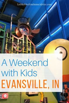 Weekend with Kids in Evansville, Indiana. A family-friendly affordable getaway in the Midwest. Just a few hours from Indianapolis, St. Louis and Louisville.