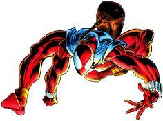 . Marvel Art, Marvel Comics, Scarlet Spider Ben Reilly, Mark Bagley, Evil Demons, Amazing Spiderman, Spider Verse, Comic Books Art, Marvel Universe