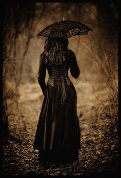 Gothic Lady with Parasol  A lady walking the streets of Gremmholt or Catchwood