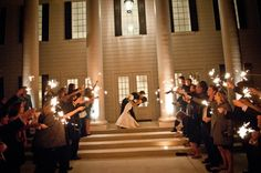 Have your wedding at the Milestone in Denton. It's the perfect venue for your elegant wedding in DFW. Check out the cute sparkler exit this couple had!