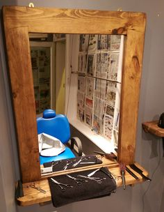 #modern #design by Marc and #traditional #technique #barbershop #mirrors with #shelf  #handmade in #Somerset by our small team at #MarcWoodJoinery  #UK from  #eco-friendly and #reclaimed #wood custom measurements available on request #farmhouse #Etsy #rustic #interiors #UK #handmade #design #country #green #traditional #bedroom  #home #living #slow #artisan #countrystyle  #eco #rustic #industrial #woodworking #ideas #chunky  #ideas #storage #furniture #mirrors #hairdressing #hairdresser…