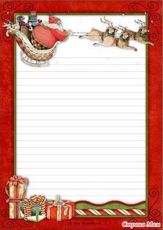 illustration / art / drawings / inspiration / sketches, Background for writing Christmas Border, Christmas Frames, Christmas Paper, Christmas Cards, Christmas Letterhead, Christmas Stationery, Printable Lined Paper, Free Printable Stationery, Christmas Journal