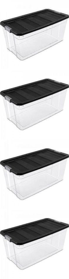 Storage Boxes 159897 Plastic Storage Container Sterilite Stackable