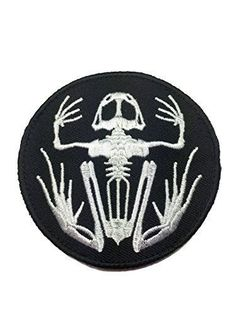 US Navy Seals Frogman Skeleton Tactical Patch - By Patch Squad - High Quality Embroidered Patch - Velcro Hook backing for attachment to Tactical Hats and Gear - Great for Jackets, vests, hats and bags