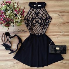 Black Prom Dress,Halter Prom Dress,Fashion Homecoming Dress,Sexy Party Dress,Custom Made Evening Dre on Luulla Pretty Dresses, Sexy Dresses, Beautiful Dresses, Evening Dresses, Short Dresses, Fashion Dresses, Komplette Outfits, Stylish Outfits, Vetement Fashion