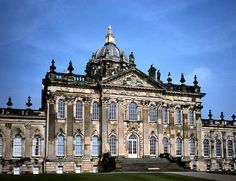 Castle Howard, North Yorkshire, England ( Sir John Vanbrugh and Nicholas Hawkmoor: 1699 - English Manor Houses, English Castles, English House, Yorkshire England, North Yorkshire, Homes England, England Houses, Neoclassical Architecture, Palaces