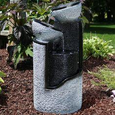 Sunnydaze Dark Gray Stone Pillar