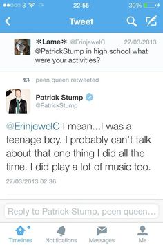 Patrick. . . reminding us all that even though he is cute, he's human