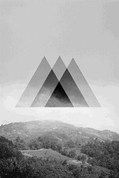 Triangle tattoo concept