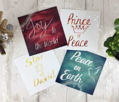 Excited to share the latest addition to my #etsy shop: Christian Christmas Card Pack, Bible Verse Words,  Joy to the World Prince of Peace Star of David Peace on Earth, Original Designs, Holyhope #papergoods #white #christmas #christmascards #christmaspresent #christiancards #peaceonearth #starofdavid #joytotheworld