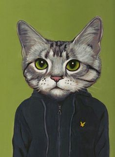 Heather Mattoon   Cats in Clothes